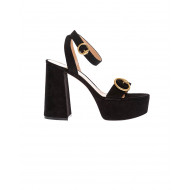 Achat Suede sandals with Charles IX strap 110mm - Jacques-loup