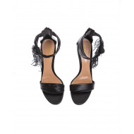 Achat Nappa leather sandals with fine lashes 80mm - Jacques-loup