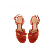 Achat Suede sandals with crossing straps 60mm - Jacques-loup