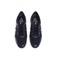 """Leggera"" multimaterial sneakers with laces"