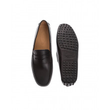 """""""Gomini"""" Smooth and flexible leather moccasins with penny strap"""