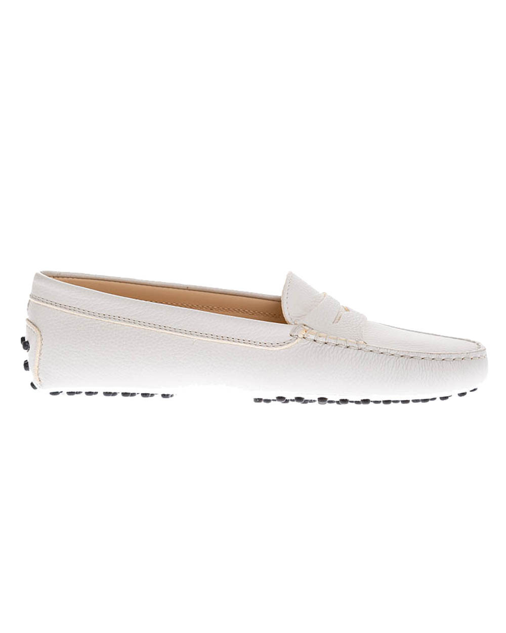 """""""Gomini"""" Grained leather moccasins with decorative penny strap"""