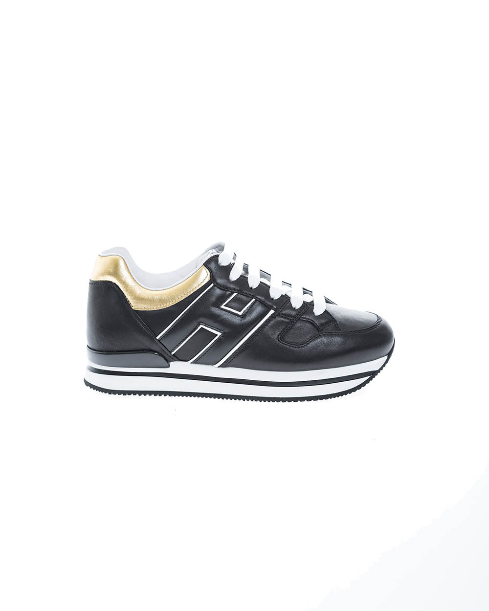 """222"" Leather low-top sneakers applied logo"