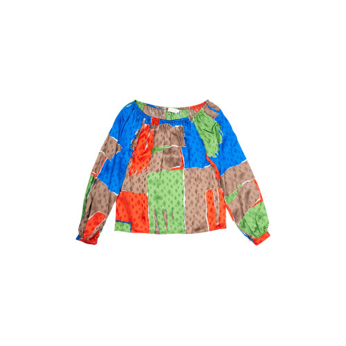 Achat Silk top with colorful... - Jacques-loup