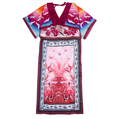 Achat Silk twill dress kimono... - Jacques-loup