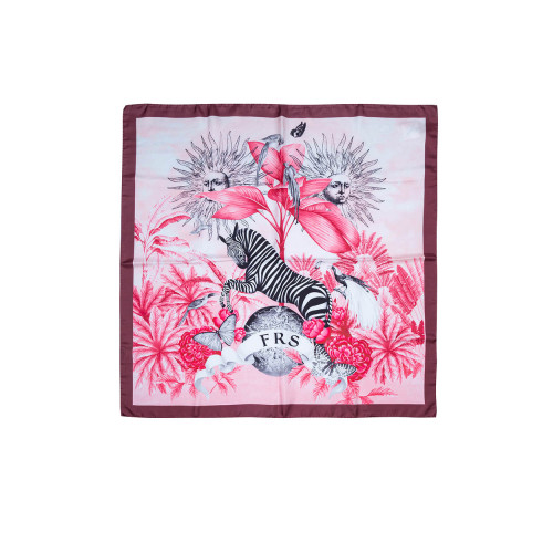 Achat Silk twill scarf with... - Jacques-loup