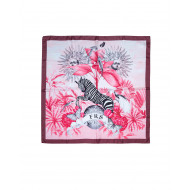 Achat Foulard For Restless Sleepers 90x90 rose impression zèbre pour femme - Jacques-loup