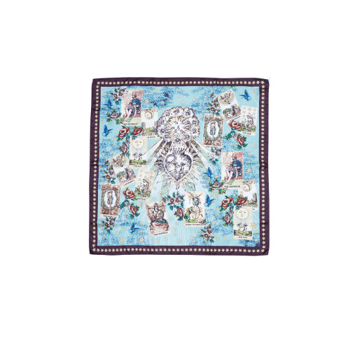 Achat Silk twill scarf with tarot print 70x70 - Jacques-loup