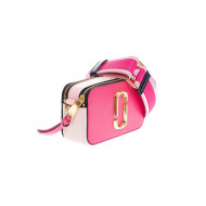 Achat Snapshot DTM - Leather bag with textile shoulder strap and gold logo - Jacques-loup
