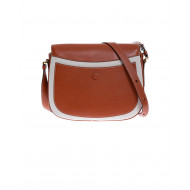 Achat Leather and toile bag with... - Jacques-loup