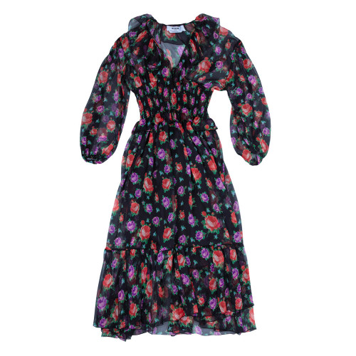 Achat Chiffon dress with smock at... - Jacques-loup