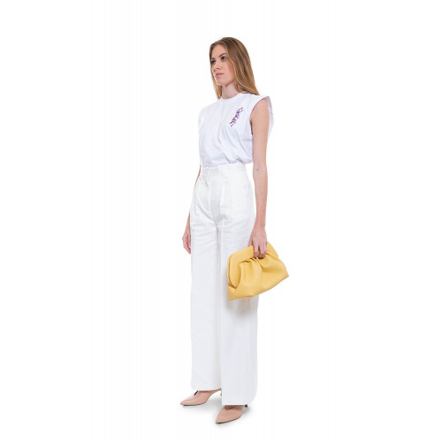 Achat Cotton and linen high waisted trousers - Jacques-loup