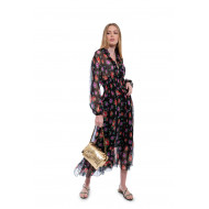 Achat Chiffon dress with smock at the waist and floral print - Jacques-loup