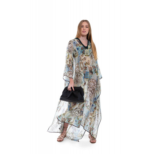 Achat Gige silk and cotton Kaftan with V neckline - Jacques-loup
