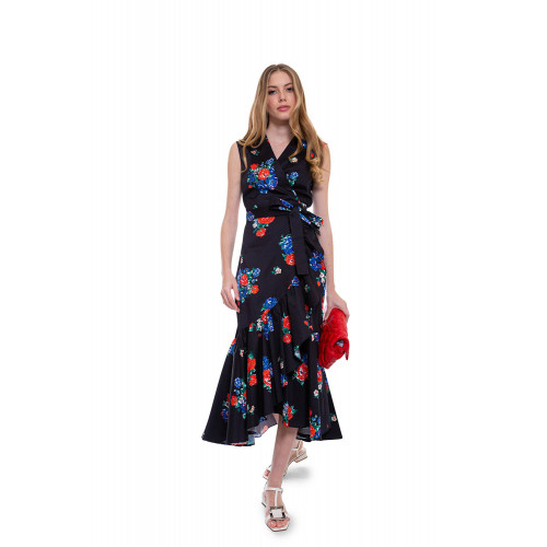Achat Cotton dress knotted at the waist with floral print - Jacques-loup