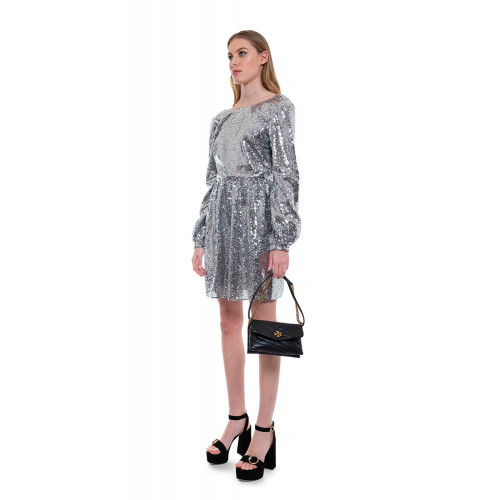 Achat Camille Mini-B - Glittering short dress with deep neckline in the back - Jacques-loup