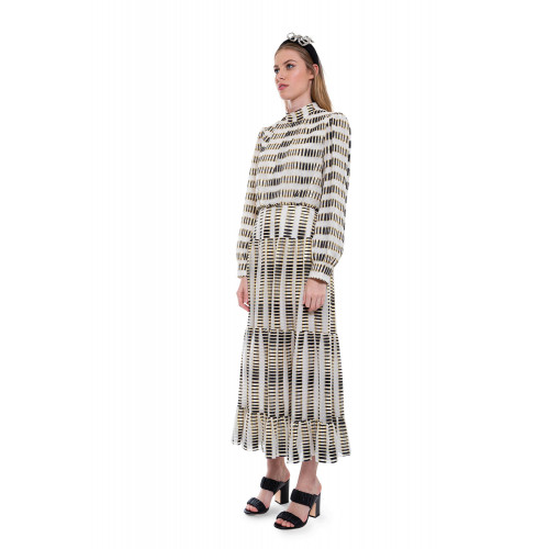 Achat Isabel-B - Long silk dress with long sleeves - Jacques-loup