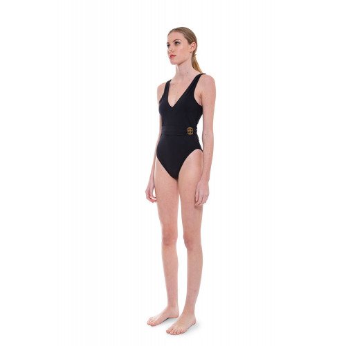 Achat Bathing suit with draped belt and logo closing - Jacques-loup