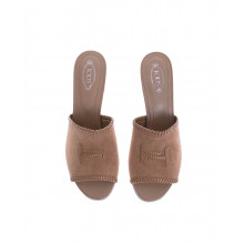 """Suede mules with double """"T"""" logo 50mm"""
