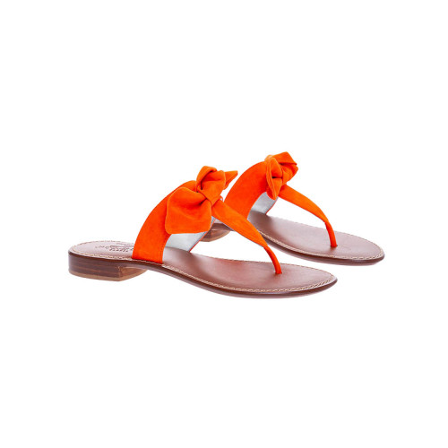 Achat Suede toe thong mules with a decorative knot - Jacques-loup