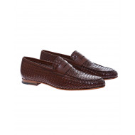 Achat Plaited leather moccasins - Jacques-loup