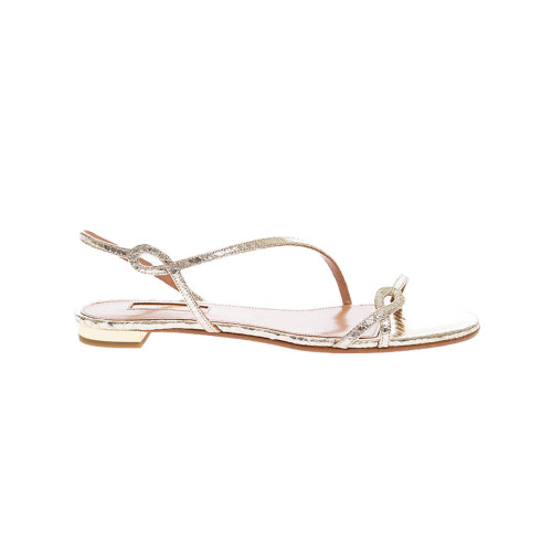 Achat Serpentine - Calf leather sandals with python print and twisted straps 10 - Jacques-loup