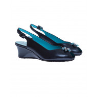 Achat Natural leather cut shoes with aquamarine flower 55 - Jacques-loup