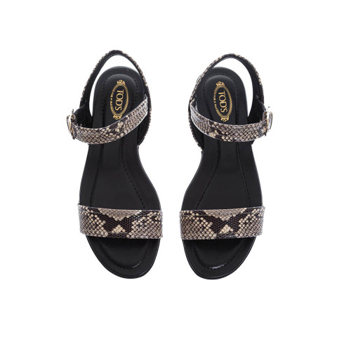 Achat Python print leather sandals for women - Jacques-loup