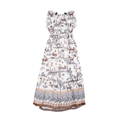 Achat Elastic waist dress with... - Jacques-loup