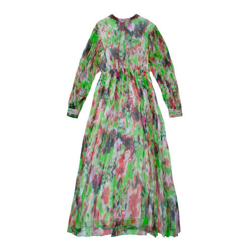 Achat Silk muslin puffed dress... - Jacques-loup