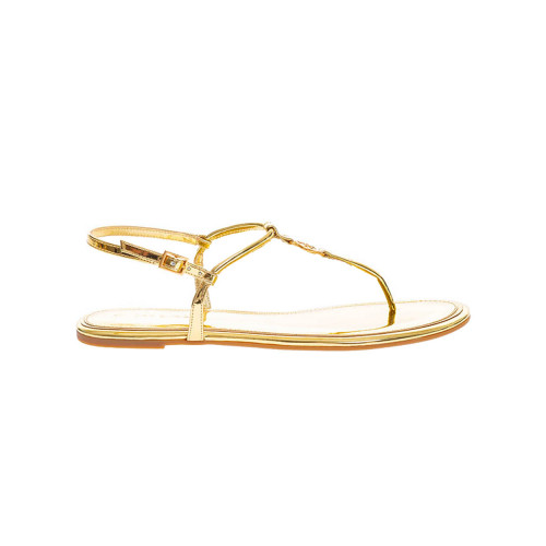 Achat Sandale Tory Burch Emmy entredoigt et logo or semelle gomme - Jacques-loup