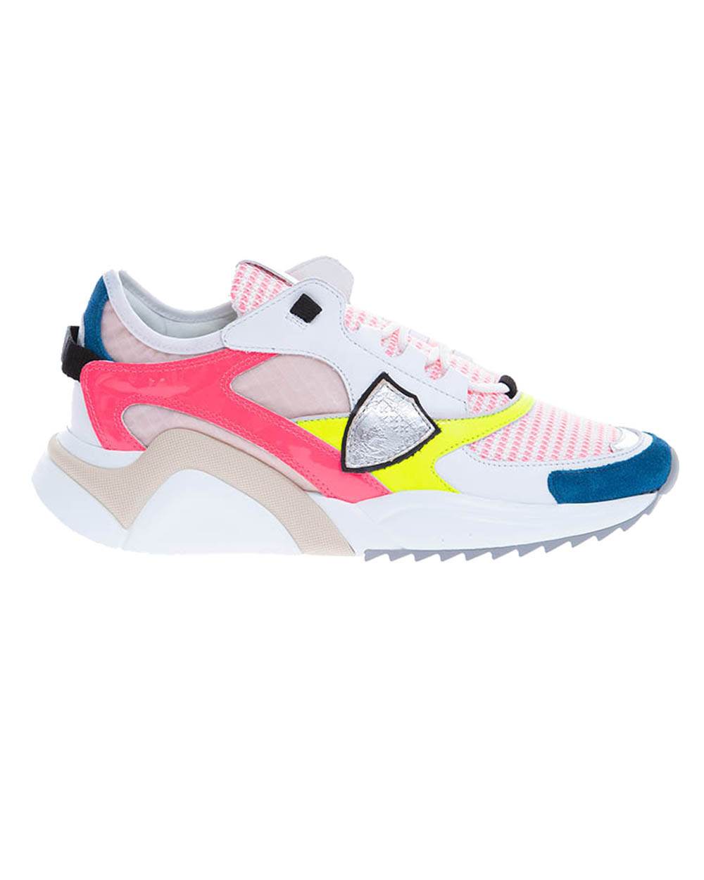 Eze - Leather and nylon sneakers with color scheme