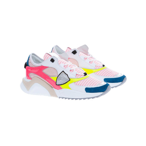 Achat Eze - Leather and nylon sneakers with color scheme - Jacques-loup