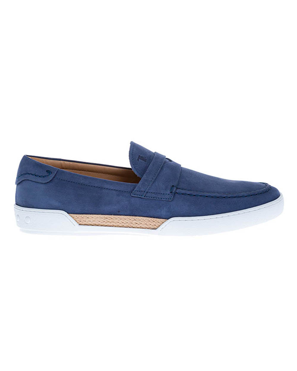 """""""Riviera"""" Nubuck moccasins with stitched band on top"""
