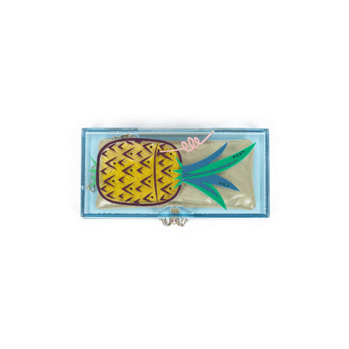Achat Minaudière Charlotte Olympia Cocktail Ananas Vert jaune - Jacques-loup