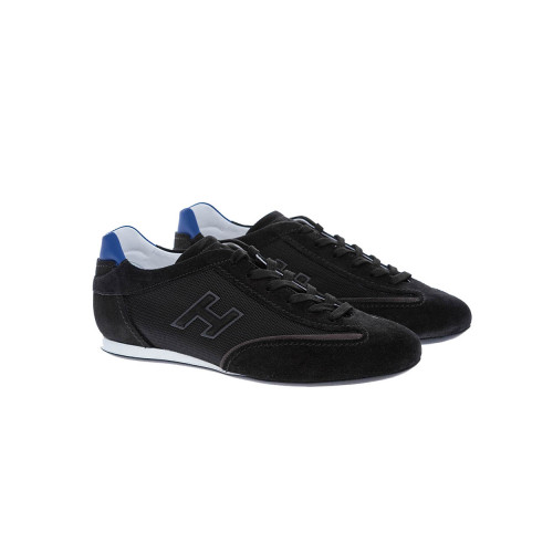 Achat Olympia - Textile and split leather sneakers with h logo - Jacques-loup