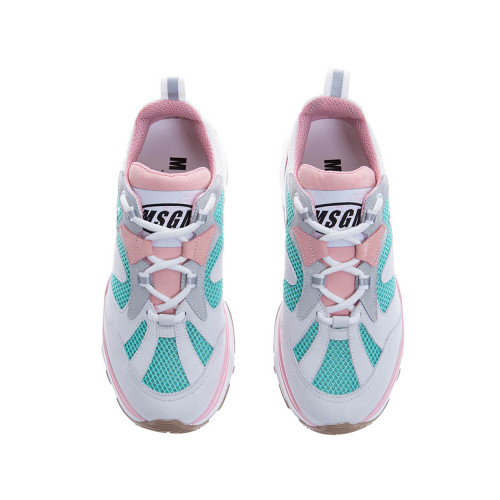 Achat Tennis MSGM Attack talc-rose-turquoise pour femme - Jacques-loup