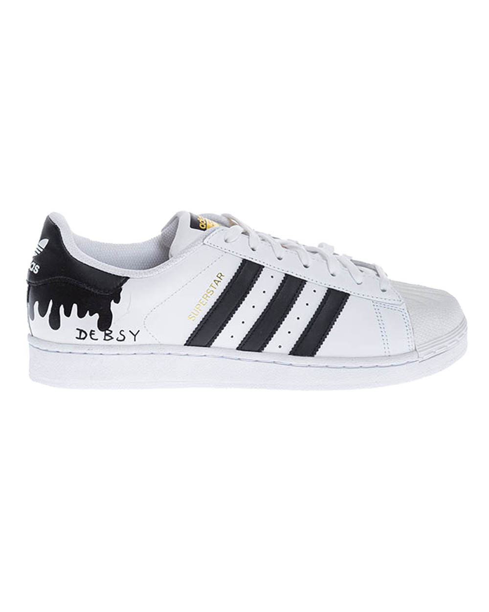 """Tennis shoes Adidas by Debsy - Super Star """"Flowing black"""" for men"""