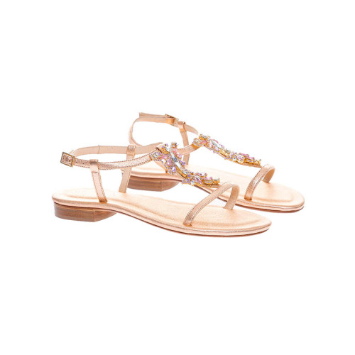 Achat Leather Salomé sandals with... - Jacques-loup