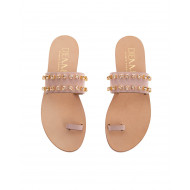 Achat Leather mules with bright... - Jacques-loup