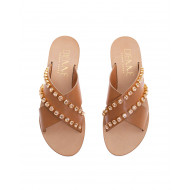 Achat Leather mules with crossing... - Jacques-loup