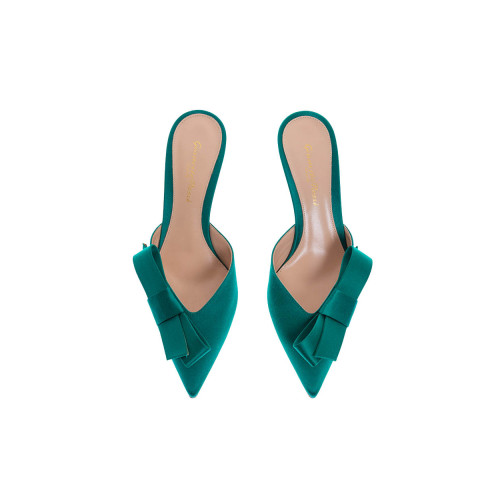Achat Satin mules with pointed tip 55 - Jacques-loup