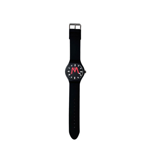 Achat Singapore - Mixed silicone and stainless steel watch engraved logo - Jacques-loup