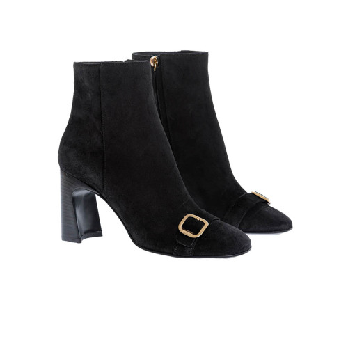 Achat Suede low boots with golden metallic buckle 80 - Jacques-loup