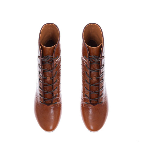 Achat Crumpled calf leather low boots with laces 70 - Jacques-loup