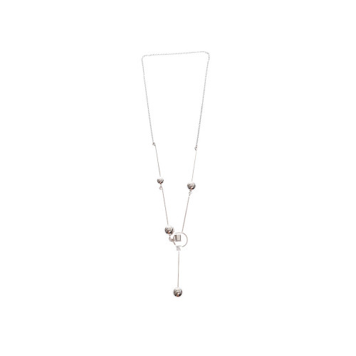 Achat Silver long necklace with metallic details - Jacques-loup