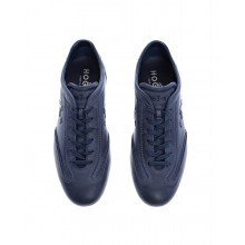 Olympia - Patina calf leather sneakers with topstitches