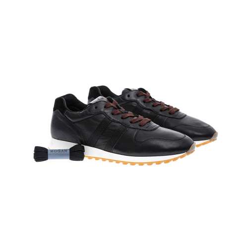 Achat Running H86 - Suede and nappa sneakers with small rubber studs - Jacques-loup