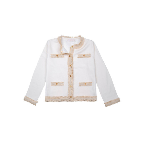 Achat Wool and cotton jacket with fringes - Jacques-loup