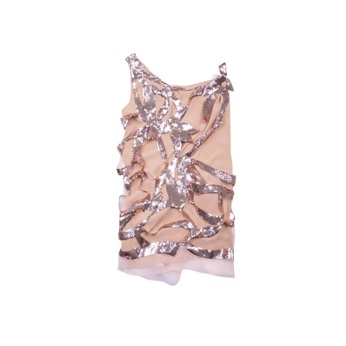 Achat One shoulder silk dress with sequins - Jacques-loup